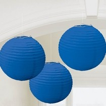 Lampiony modré 3 ks 24cm