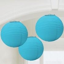 Lampiony sv. modré 3 ks 24 cm