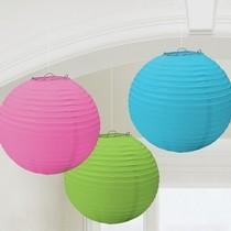Lampiony 3 ks 24 cm mix barev