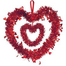 Srdíčko závěsná dekorace 30 cm