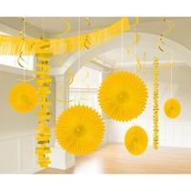 Závěsné dekorace žluté  18 ks