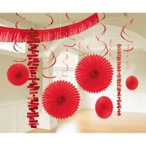 Závěsné dekorace červené 18 ks