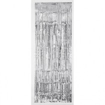 Závěsná dekorace stříbrná 243 cm x 91 cm