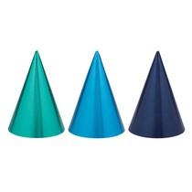Čepičky papírové modré mix barev 12 ks