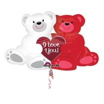 Balónek foliový medvídci I Love You 88 cm