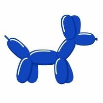 Tvarovací balónik royal blue