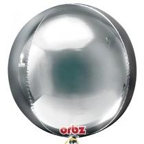 Foliový balónek stříbrná koule 38 cm