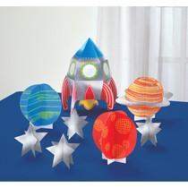 Vesmír dekorace na stůl 8 ks