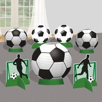 Fotbal lampiony dekorace na stůl se stojánky 7 ks