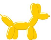 Tvarovací balónik goldenrot
