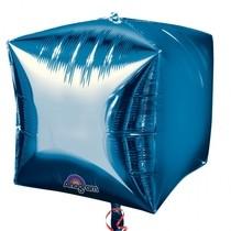 Foliový balónek kostka modrá 38 cm