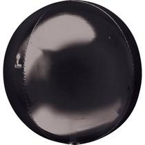 Foliový balónek černá koule 38 cm