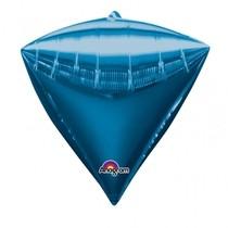 Diamant modrý balónek foliový 38 x 43 cm