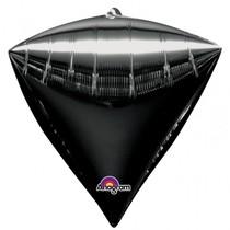 Diamant černý balónek foliový 38 x 43 cm