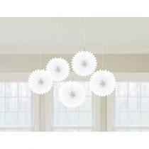 Závěsné dekorace bílé 5 ks 15,2 cm