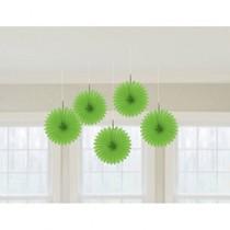 Závěsné dekorace zelená 5 ks 15,2 cm
