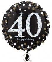 Balónek foliový 40. narozeniny 43 cm