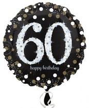 Balónek foliový 60. narozeniny 43 cm
