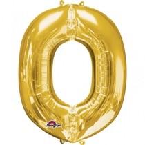 Písmena O zlaté foliové balónky 83 cm x 66 cm