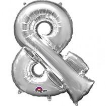 Symbol & stříbrné foliové balónky 27cm x 35cm