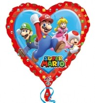 Super Mario balonek srdíčko 43cm