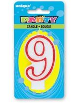 Svíčka na dort číslo 9