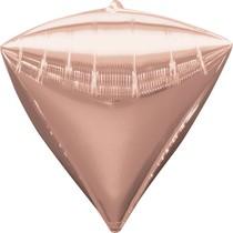 Diamant růžovo-zlatý balónek foliový 38 x 43 cm