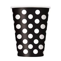 Kelímky černo - bílé tečky 6ks 355ml