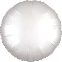 Balónek kruh satén bílý