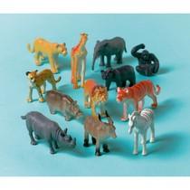 Zvířátka safari plastové 12 ks