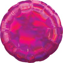 Balónek kruh holografický tmavě růžový