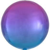 Foliový balónek koule růžovo-modrá 38 cm