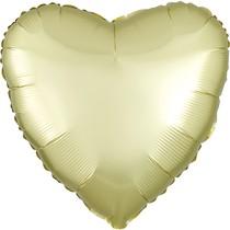Balónek srdce foliové satén žluto-zlaté