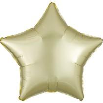 Balónek hvězda satén žluto-zlatá