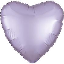 Balónek srdce foliové satén světle fialové Amscan