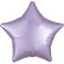 Balónek hvězda foliová satén světle fialová