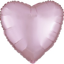 Balónek srdce foliové satén světle růžové