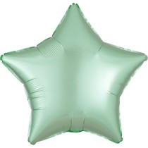 Balónek hvězda foliová satén mint