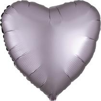 Balónek srdce foliové satén růžovo-šedé