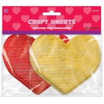 Papírová srdce zlatá a červená 20 ks 7 cm