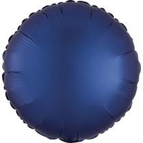 Balónek kruh satén tmavě modrý