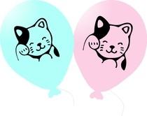 Kočička balónky 6 ks 27 cm