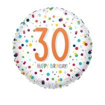 30. narozeniny balónek konfety 43 cm