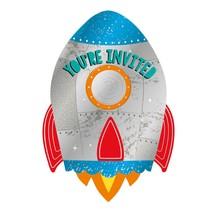 Pozvánky na party raketa 8 ks 10,7 cm x 15,8 cm