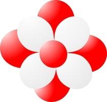 Balónky kytka červená
