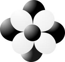 Balónky kytka černá