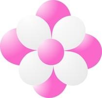 Balónky kytka tmavě růžová