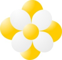 Balónky kytka žlutá