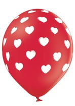 Balónky červené srdíčka 6 ks 30 cm