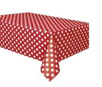 Ubrus červeno - bílé tečky 137cm x 274cm